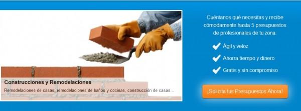 Presupuestos de empresas de construcción y reformas