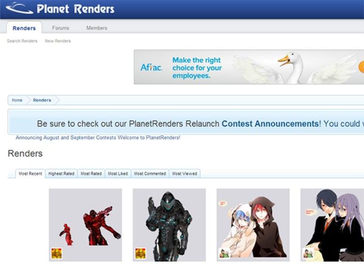 Planet Render - Mejores sitios para descargar renders gratis