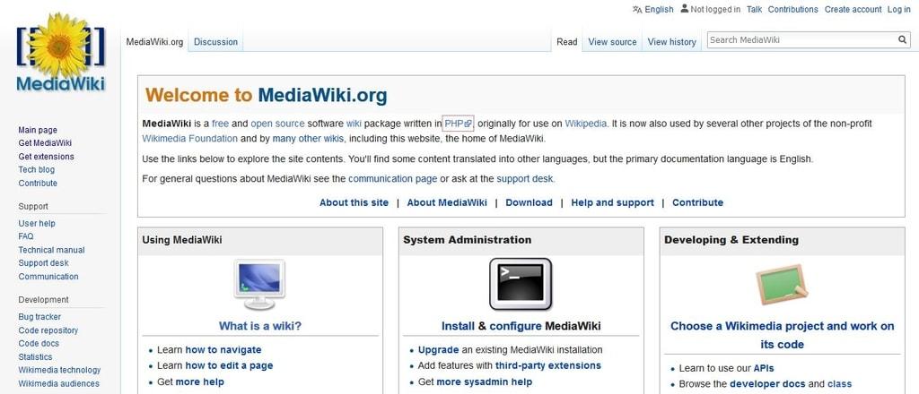 Software y programas Wiki gratis y de código abierto - media wiki