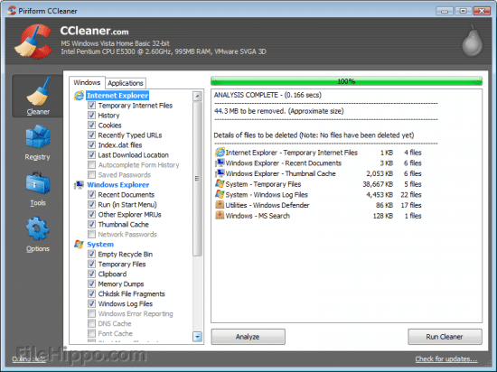 ccleaner optimizar windowos limpiadores - programas gratis