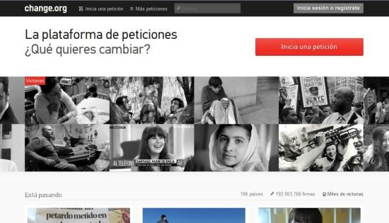 change.org quejas denuncias y opiniones