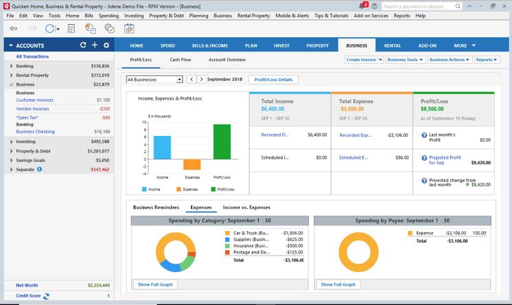 mejor programa de contabilidad domestica - Quicken Premier