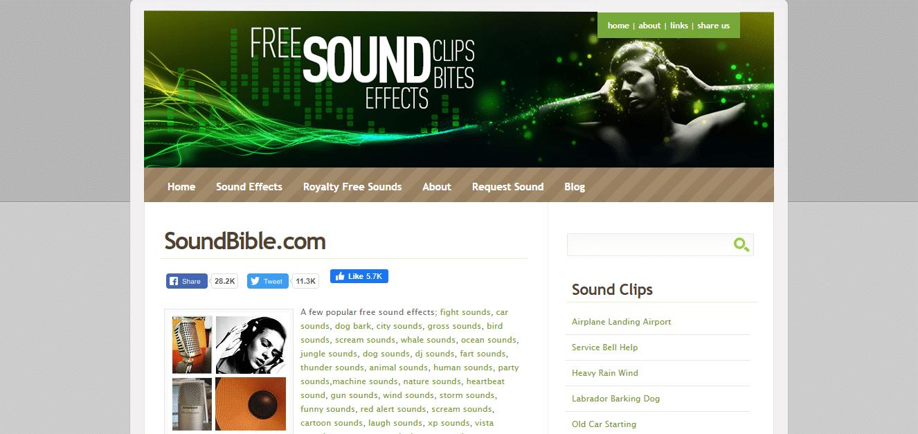 mejores efectos de sonido gratis - SoundBible