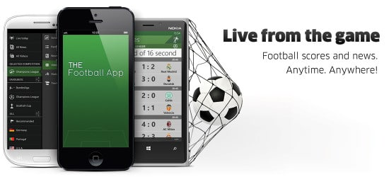 mejores paginas y aplicaciones de futbol football app android iphone