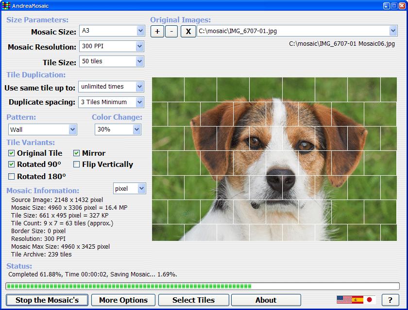 andre mosaic - mejor programa gratis para crear mosaicos y collages