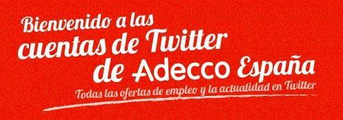 Adecco - 1000 ofertas de trabajo al dia en twitter