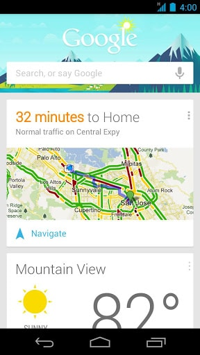 Google now search android
