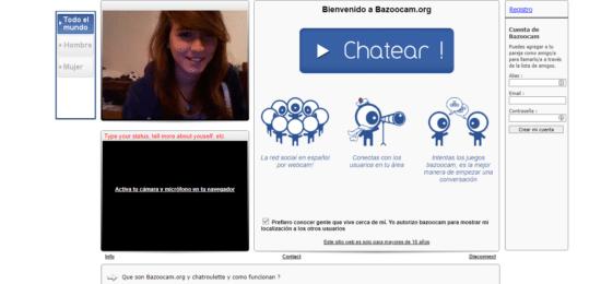 Bazoocam - Chatroulette en español