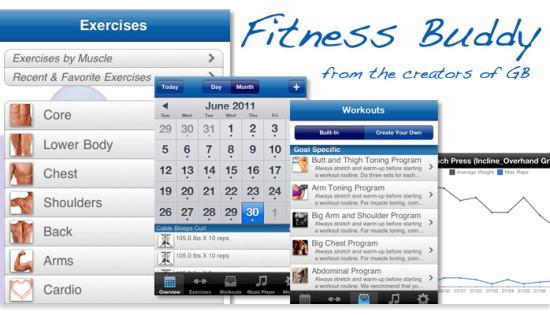 fitness buddy ejercicios de gimnasio, tablas rutinas
