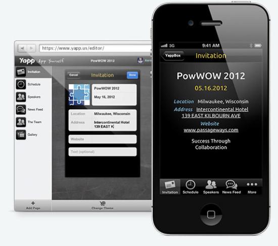 yapp crear aplicaciones para moviles iphone android gratis