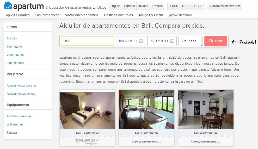 Apartum buscador y comparador de apartamentos para tus vacaciones en cualquier lugar del mundo - Buscador de hoteles y apartamentos ...