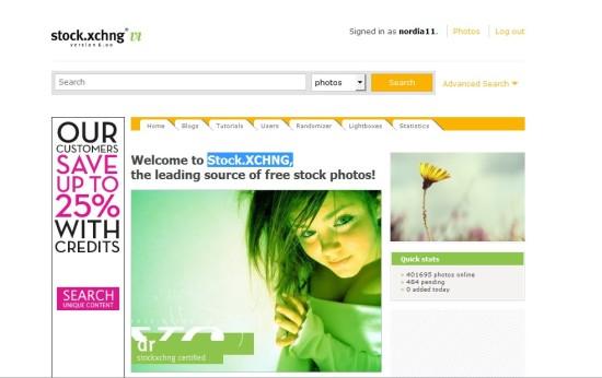 Stock.XCHNG, mejor banco de imagenes gratis
