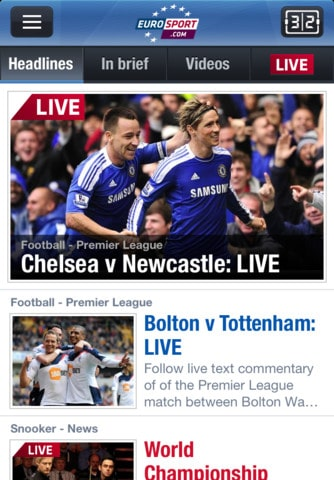 Eurosport- aplicacion noticias resultados deportivos futbol