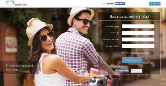 Loventine, encontrar pareja gratis en Internet