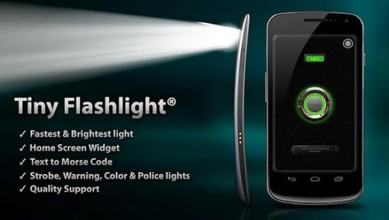 Tiny Flashlight mejores apps para convertir tu movil en una linterna