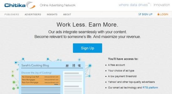 Chitika  - alternativas a Adsense para ganar dinero en internet con tu web