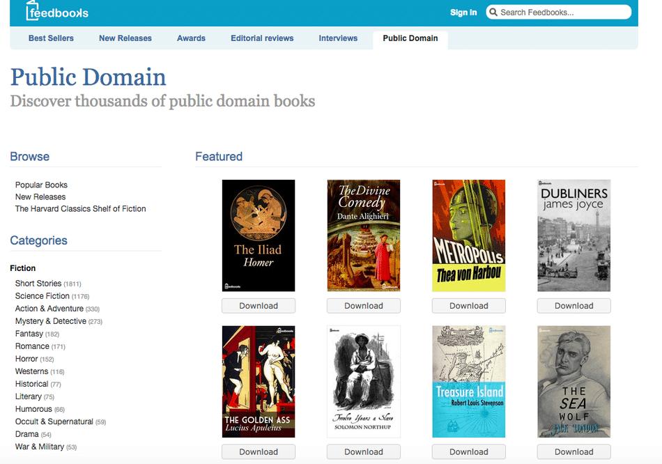 descargar libros gratis feedbooks
