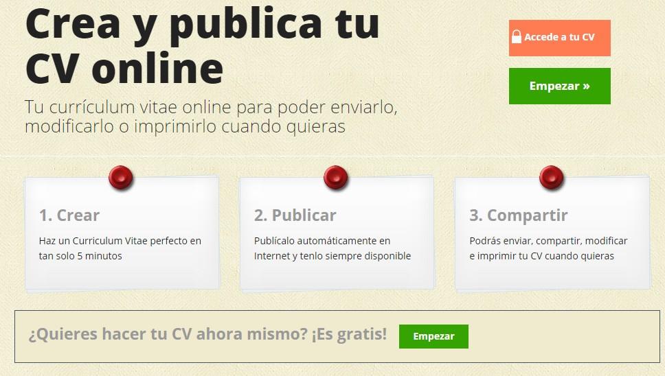 Mi curriculum vitae crea tu cv gratis online f cilmente - Crea tu cocina online ...