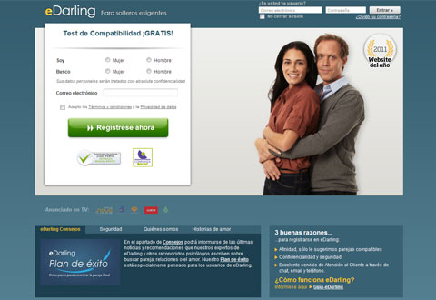 eDarling - web para buscar pareja