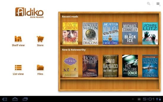 Aldico Book Reader - mejores apps para leer ebooks en tu movil o tablet