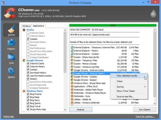 ccleaner-Mejor programa para limipiar el disco duro y acelerar el PC