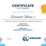 plantilla diploma de asistencia para editar