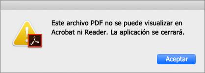 archivo pdf con error