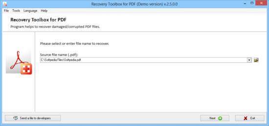 como recuperar un archivo pdf