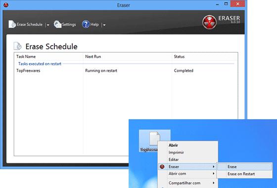 mejor programa gratis para eliminar archivos Eraser