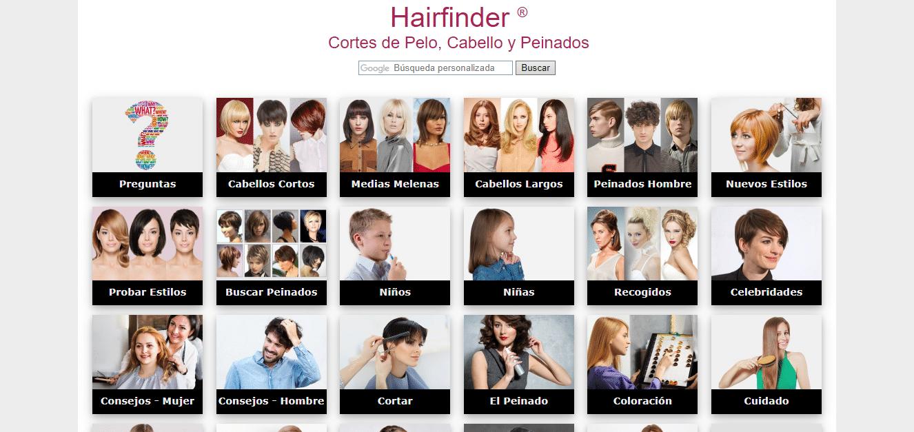 simulador de cortes de pelo hairfinder