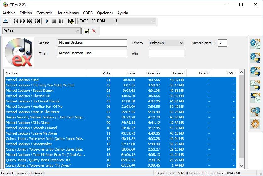CDex mejor programa para convertir cda a mp3