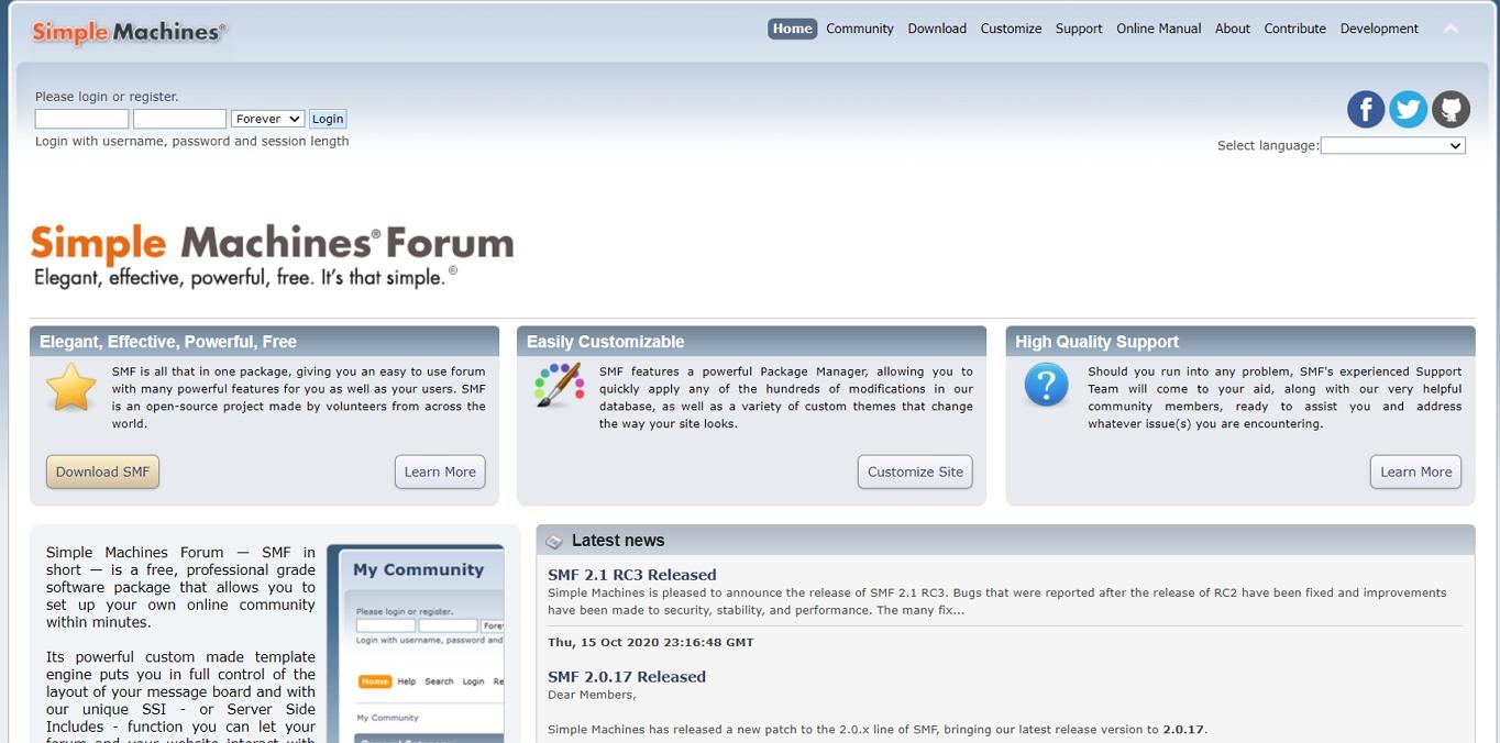 El sitio web del Foro de las Máquinas de la Manzana: El software del foro más adecuado para quienes tienen un presupuesto limitado.