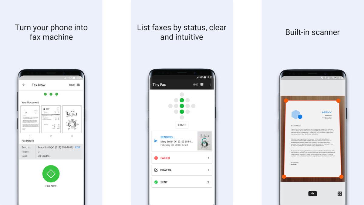 Captura de pantalla del Tiny Fax 2020