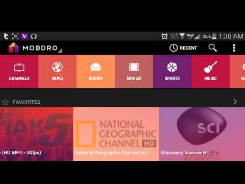 mobdro stream películas y programas de televisión en Android