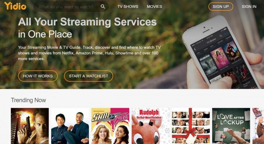 yidio servicios de streaming de películas