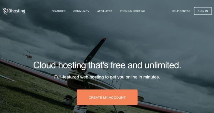 Alojamiento gratuito de WordPress - x10Hosting