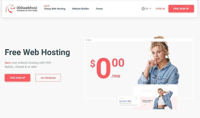 Alojamiento gratuito de WordPress - 000webhost