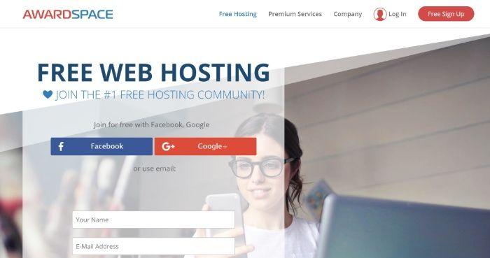 Alojamiento gratuito de WordPress - AwardSpace