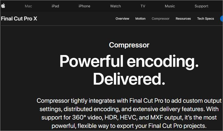 Compresor de Final Cut Pro X