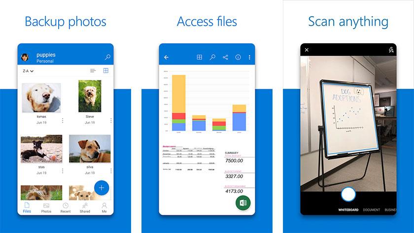 Microsoft OneDrive es una de las mejores aplicaciones empresariales para android
