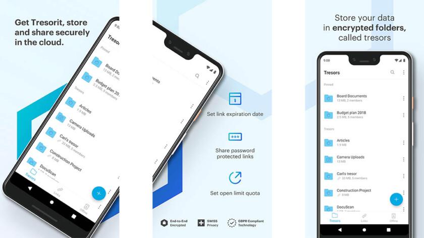 Tresorit - las mejores aplicaciones de almacenamiento en la nube