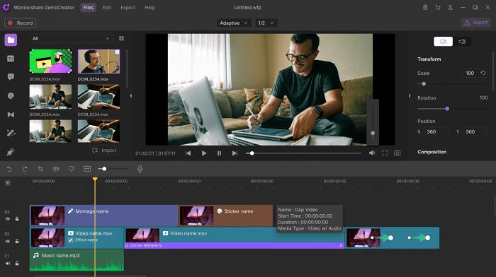 Wondershare DemoCreator - mejores capturadores de video