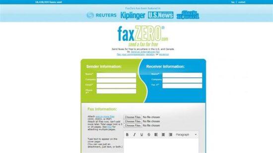 enviar fax gratis online faxzero