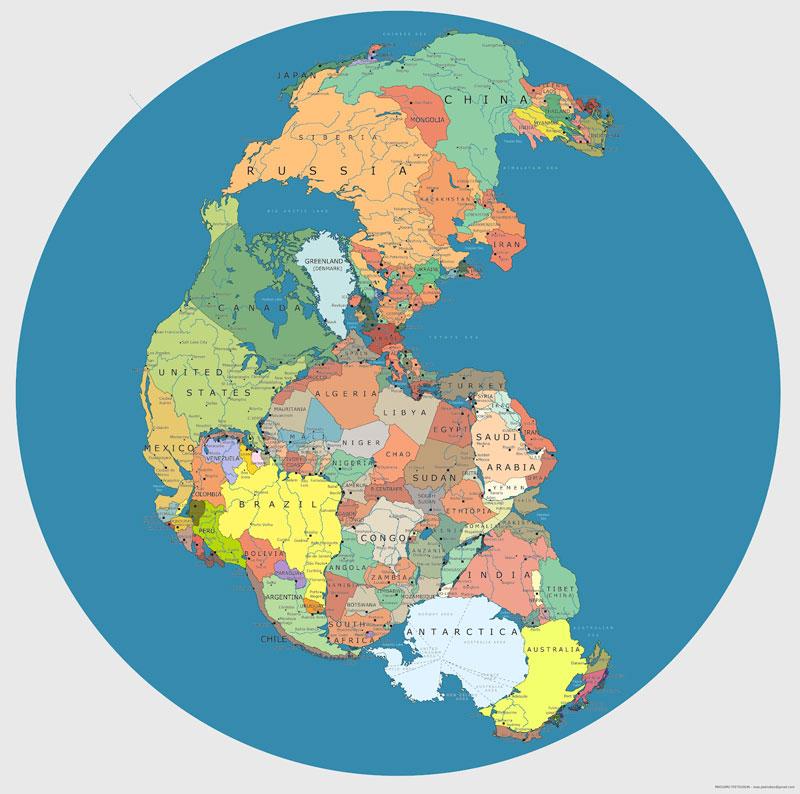 mapa de pangea con las fronteras internacionales actuales 40 mapas que te ayudarán a entender el mundo