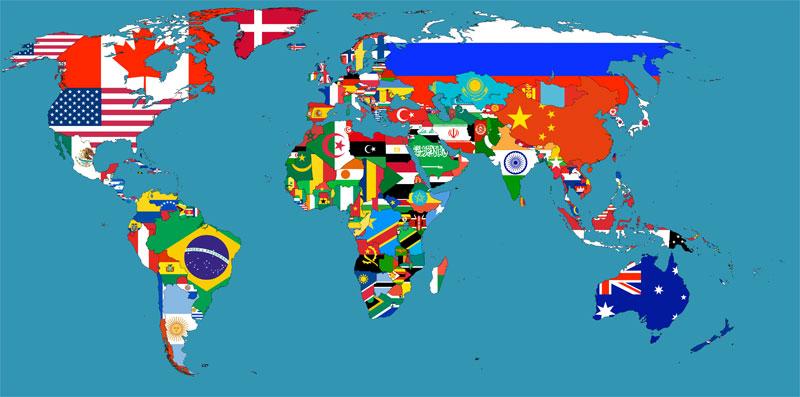 Mapa de la bandera-dinamarca-puerto