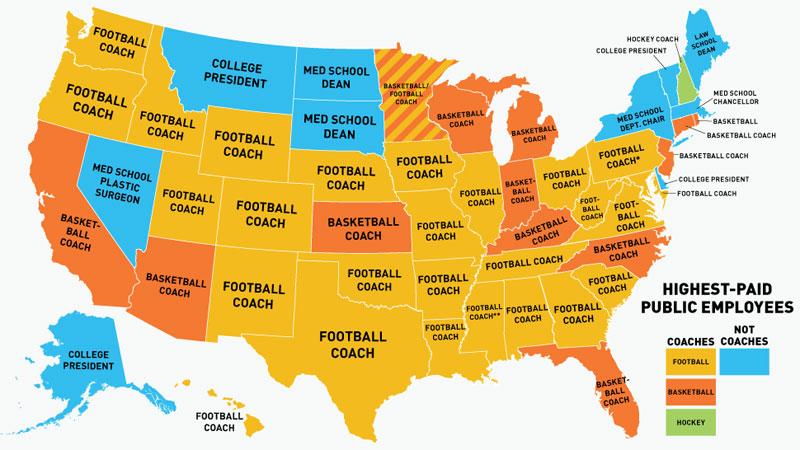 empleados públicos estadounidenses mejor pagados por estado