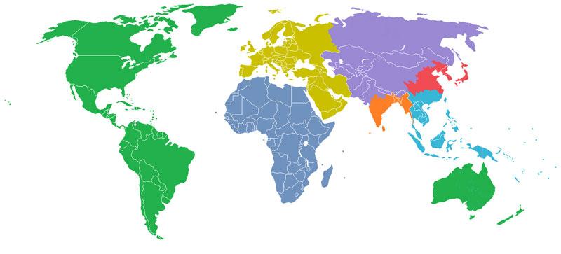 población del mundo dividida en secciones iguales de mil millones 40 Mapas que te ayudarán a entender el mundo