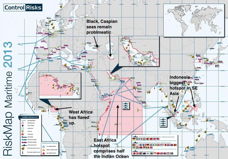 Las zonas más arriesgadas para embarcarse donde los piratas dominan los mares 40 Mapas que te ayudarán a entender el mundo