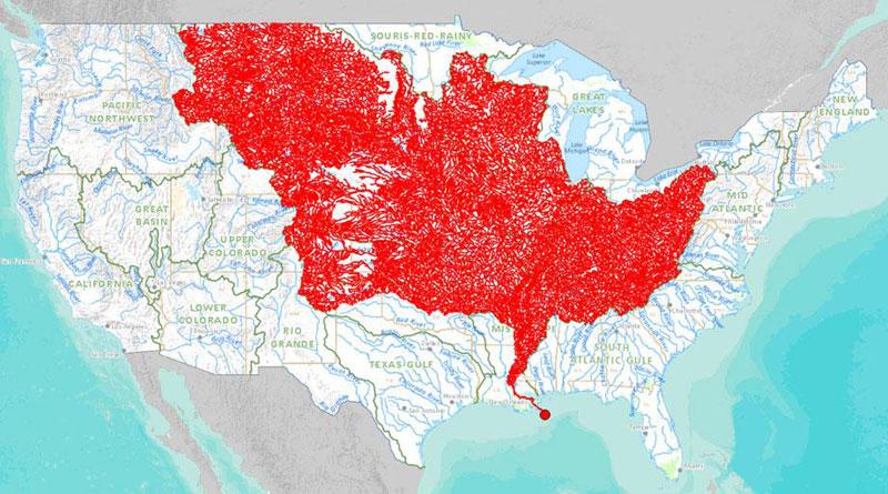 mapa de los ríos que desembocan en el río mississippi 40 mapas que le ayudarán a entender el mundo