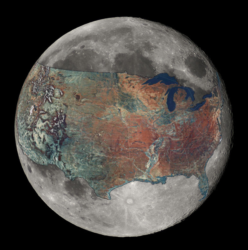 mapa de estados unidos superpuesto a la luna 40 mapas que te ayudarán a entender el mundo
